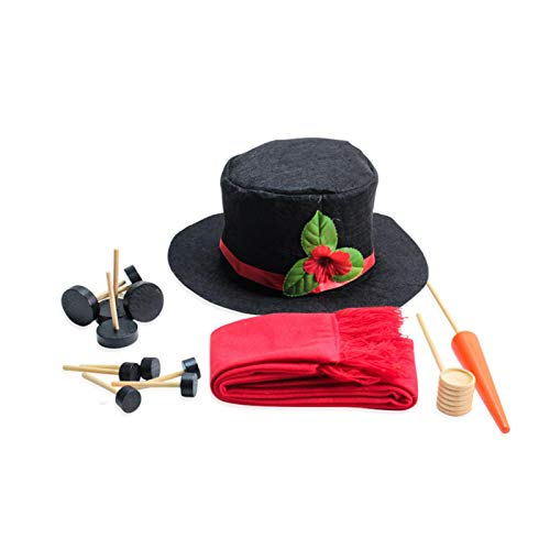 GEZICHTA 16Pcs Perfect Snowman Decorating Kit, Snowman Making Toll with Hat,Build Your Snowman,Large Snowman Making Kit Snowman Dressing Kit,Christmas Snowman for Winter Holiday Outdoor Toy