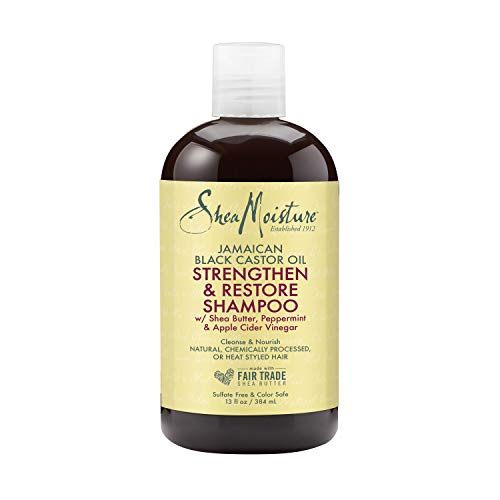 SheaMoisture Jamaican Black Castor Oil Strengthen and Restore for Damaged Hair Shampoo shampoo for Damaged Hair 13 oz.
