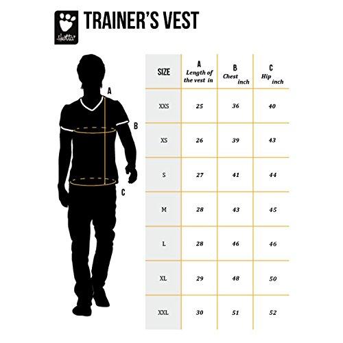 Hurtta Trainer's Vest, For Dog Trainers, Granite, L