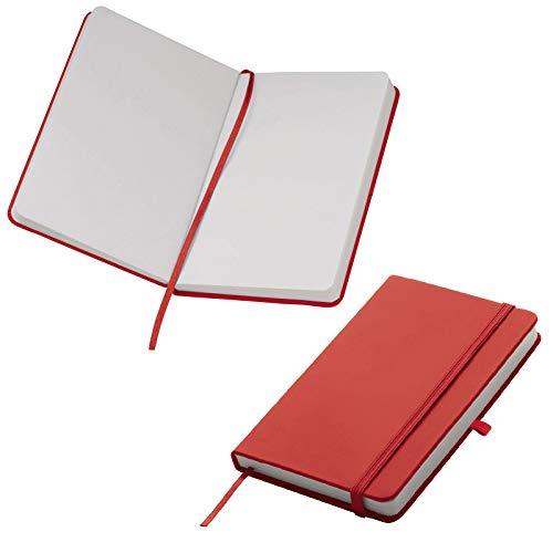 Notizbuch / DIN A6 / 160 S. / blanko / samtweiches PU Hardcover / Farbe: rot