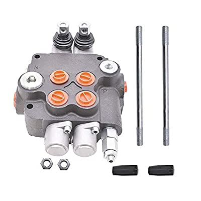 findmall Hydraulic Valve Hydraulic Directional Control Valve Double Acting Valve 2 Spool 21 GPM 3600 PSI SAE Ports for Small Tractors Tractors Loaders Log Splitters from findmall
