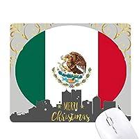 メキシコ国旗の北アメリカ 国シンボルマークパターン クリスマスイブのゴムマウスパッド