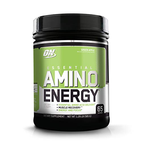 Optimum Nutrition Amino Energy - Pre Workout with Green Tea, BCAA, Amino Acids, Keto Friendly, Green Coffee Extract, Energy Powder - Green Apple, 65 Servings