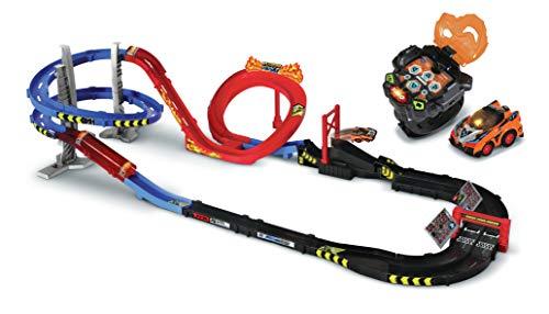 VTech Turbo Force - Mega Circuit Super Loop + Reloj de Coche Infantil con Coche con Mando a Distancia y Reloj – Versión FR