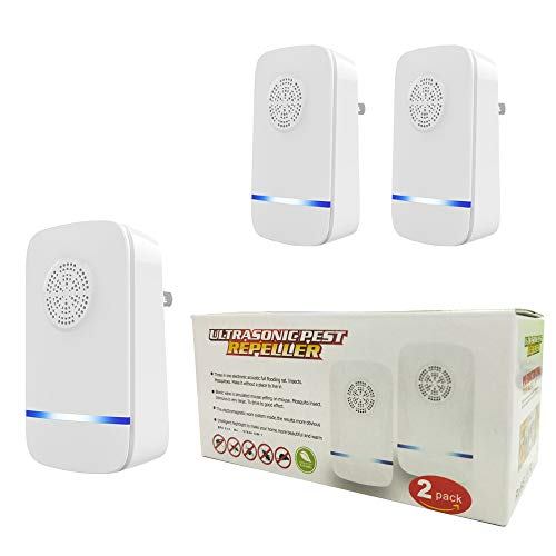 ZIOTHUM 2-Pack Electronic Ultrasonic Pest Repeller Contorl Rodent Repellent Mice Roach Rat Fly Insects Spider Mosquito Bugs Control Plug in Indoor for Patio, Home, Office, Hotel, Warehouse