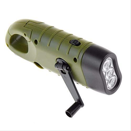 WFQ Linterna Mini Emergencia Led Manivela Solar Dynamo Linterna Lámpara De Luz Recargable Carga Potente Antorcha Para Acampar Al Aire Libre