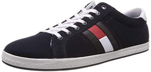 Tommy Hilfiger Essential Flag Detail Sneaker, Zapatillas Hombre, Azul (Midnight 403), 44 EU