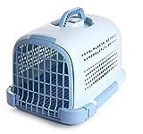 DaMuZ Caja para Mascotas Cerradura de la Puerta de plástico a presión Almohadilla de pie incorporada Gran Espacio Cómodo y Transpirable Envío aéreo Tratamiento médico Seguro Viajes