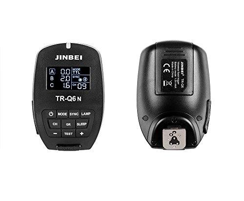 JINBEI TR-Q6N TTL-Blitzauslöser mit Bluetooth-Funktion für Nikon