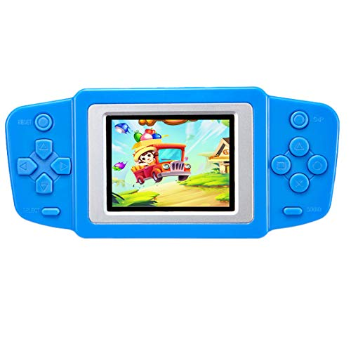 "Beico Handheld Games for Kids with Built in 218 Classic Retro Video Games 2.5"" Color Screen Portable Rechargeable Arcade Gaming Player for Boys Girls Birthday (Blue)"