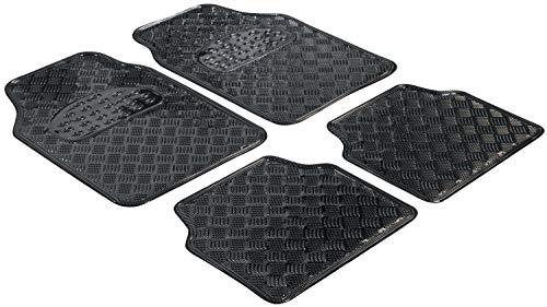 Walser Gummimatten, Universal Automatte Metallic, Fußmatten Komplettset Riffelblech, Schutzmatte Carbon, zuschneidbare Schmutzfangmatte 28023