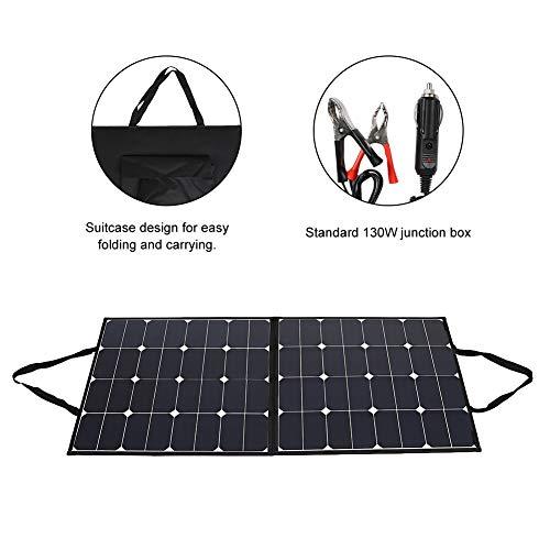 120W 12V draagbare monokristallijn zonnecellen Folding Solar Panel Complete set met ultra-Bypass-diodes, kabelklem en auto-oplader, voor outdoor camping camper, waterdicht