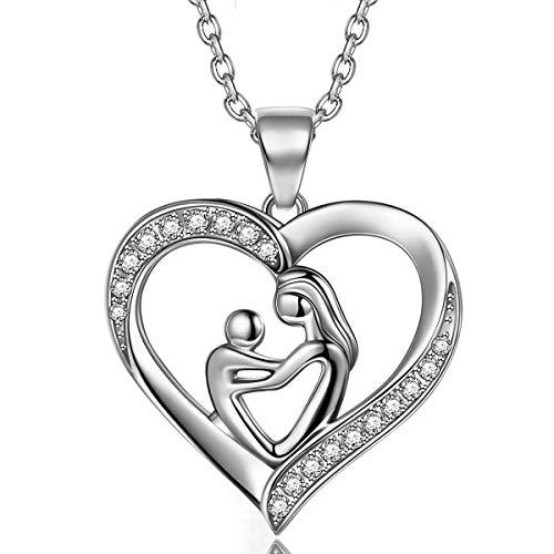 TOJEAN Deep Love' Joyería de Navidad para Mujer Collar de Plata de Ley 927 Collar Corazón Collares para Mujer Regalos para Mujer