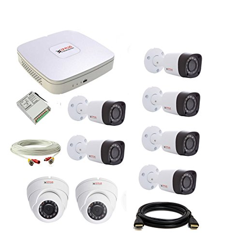 CP Plus set of 2+6 Dome and Bullet CCTV camera with DVR along with accessories