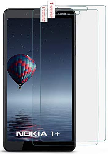 moex 2X 9H Panzerfolie für Nokia 1 Plus | Panzerglas Bildschirm Glasfolie [Tempered Glass] Screen Protector Glas Bildschirmschutz-Folie für Nokia 1 Plus Schutzfolie
