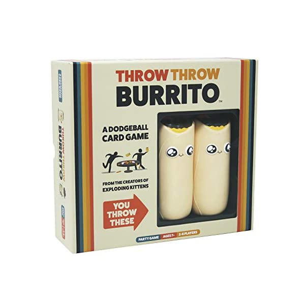 Throw Throw Burrito by Exploding Kittens – A Dodgeball Card Game – Family-Friendly...