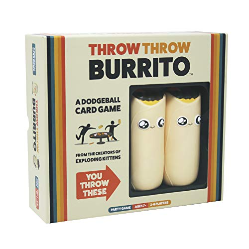 Throw Throw Burrito by Exploding Kittens - A Dodgeball Card Game for Adults, Teens & Kids