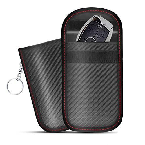 CEXTT Bolso de bloqueador de señal de clavija de coche, bolso de Faraday Caja de bloqueo de señal sin llave de señal anti-robo de entrada remota inteligente Fobs Protección for llaves de coche Rfid Bo