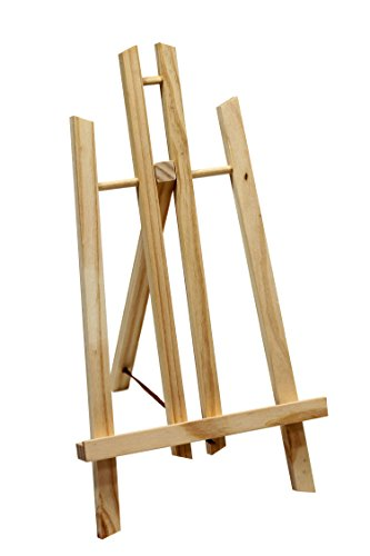 Display-/ Tischstaffelei 30cm hoch, aus Vollholz, klappbar und platzsparend, Bildhalter, Deko-Ständer, Sitzstaffelei