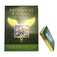 44カードArchangel Raphael Healing Oracleカードタロットボードゲーム楽しい家族ゲーム(英語)