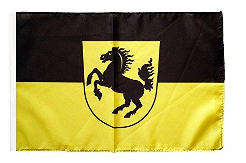 Flaggenfritze® Flagge Deutschland Stadt Stuttgart - 30 x 45 cm