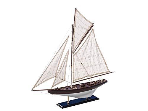 Modello di Nave Barca a Vela Barca di Legno Modello di Nave a Vela Maritim Nave