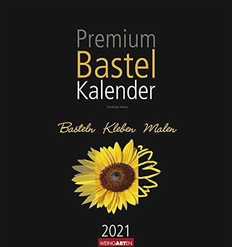 Bastelkalender schwarz 32 x 34 cm Kalender 2021