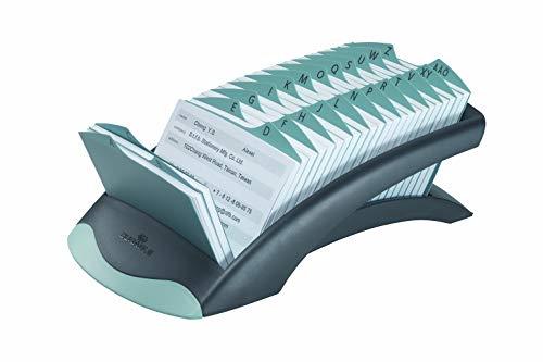 Durable 241201 Adresskartei TelIndex desk (mit 500 Karteikarten) 1 Stück schwarz