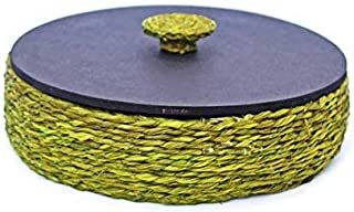 KADAM HAAT Handcrafted Sabaii Grass and Bamboo Based Roti/Chapati/Paratha/Dry Fruits Serving Plate Box Home and Kitchen De...