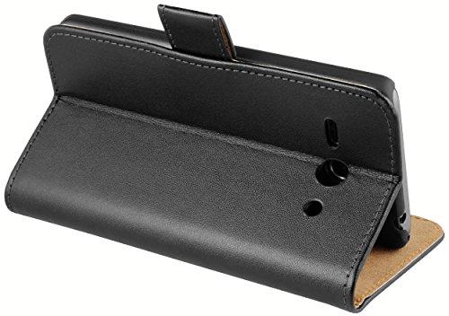 mumbi Tasche Bookstyle Case kompatibel mit Huawei Ascend Y530 Hülle Handytasche Case Wallet, schwarz - 4