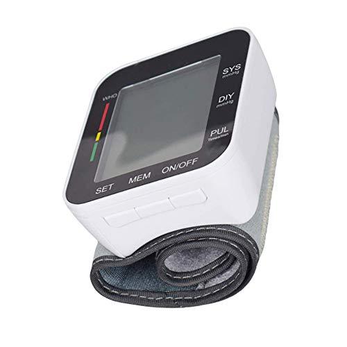 Manchet Pols BP Automatische Pols Bloeddrukmeter, Met LCD-Scherm Home Health Monitor Onregelmatige Hartslagmeting Met 2 Gebruikers 198 Herinneringen