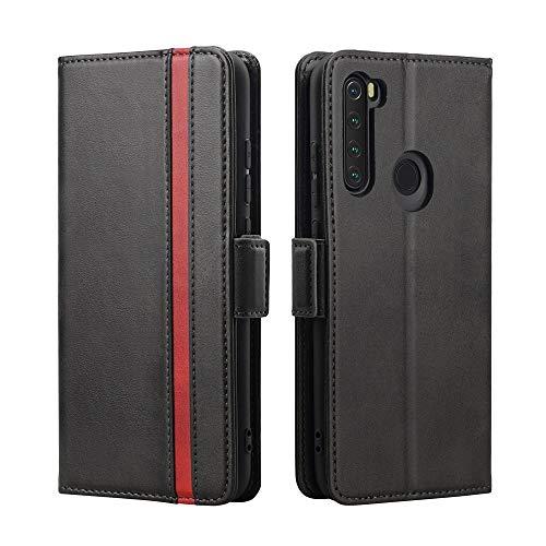 Rssviss Redmi Note 8 Hülle, Redmi Note 8 Handyhülle mit Kartenfach, Redmi Note 8 Handy Schutzhülle/Klapphülle, Lederhülle mit Standfunktion, Ledertasche für Xiaomi Redmi Note 8 6.3