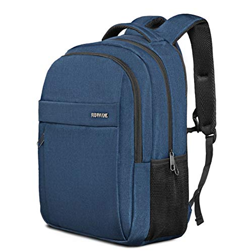 ROYALZ Zaino con 15,6 pollici scomparto per computer portatile Business Bag Roomy per viaggi di lavoro e attività ricreative Daypack, Colore:Blu