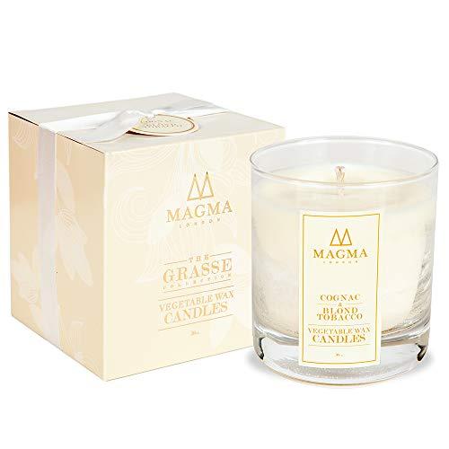Magma London – Candela profumata – Deluxe Box Gift Set – Cognac & Biondo Tabacco 38 cl