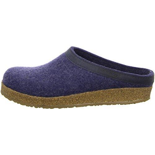 Haflinger Unisex-Erwachsene Grizzly Torben Pantoffeln, Blau (Jeans 72), 36 EU