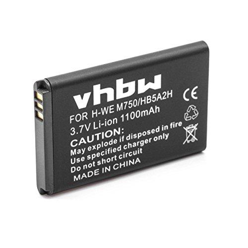 vhbw Akku Ersatz für Huawei HB5A2H für Handy Smartphone Handy (700mAh, 3,7V, Li-Ion)