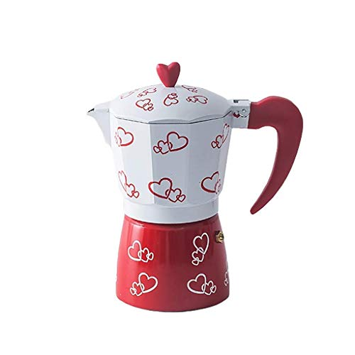 Chunjiao Grindero de café manual -Moka Cafetera italiana Máquina de café de aluminio octagonal Mocha Mochila Máquina de espresso 300 ml, 6 tazas Maquina de cafe