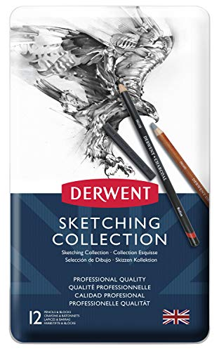 Derwent Sketching Collection Zeichenstifte in Metallbox 12 Stück
