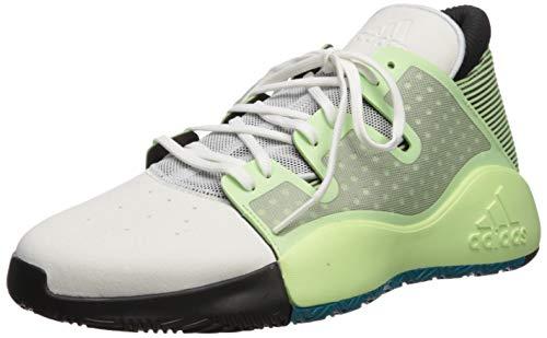 adidas Men's Pro Vision Basketball Shoe, Glow Green/Crystal White/Black, 11 M US