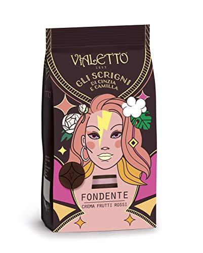VIALETTO gli Scrigni di Cinzia e Camilla | Praline Cioccolato Fondente e Crema Frutti Rossi | Confezione 150 g