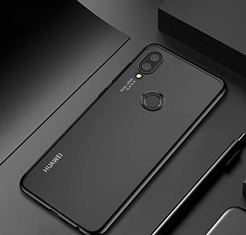 XMCJ Funda de silicona suave para Huawei Nova 4 3i 3 P20 P30 Pro Lite Mate 20 10 P Smart Plus Honor 8C 8X Lite Slim Phone Shell Cover (color: negro, material: P Smart Plus 6.3')