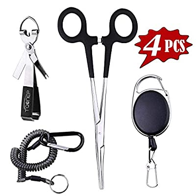 TQONEP Fly Fishing Tools and Accessories Combo, Fishing Clipper and Fishing Quick Knot Tying Tool Kit for Anglers Vest Backpack Assortment