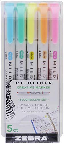 Zebra Pen MILDLINER 5/PK FLUORESCNT, Multicolors