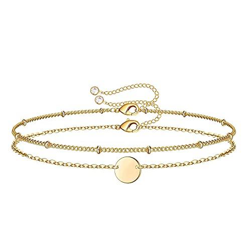 YFZCLYZAXET Jewellery Bracelets Bangle For Womens Gold Bracelet Women Bead Chain Bracelet Zircon Adjustable Layered Bracelets Jewelry Gift