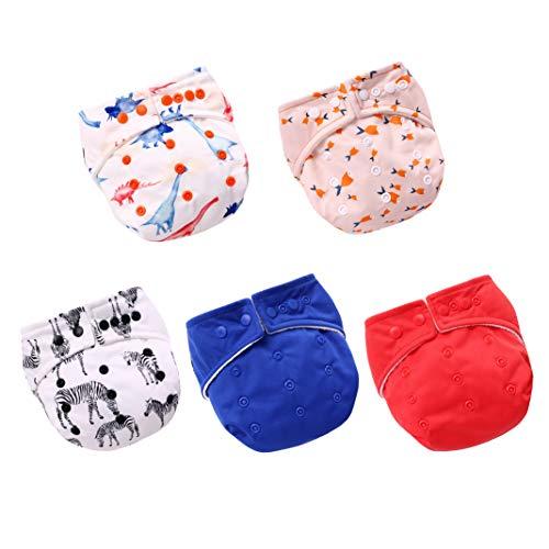 Baby Windelhose, 5er Pack Wasserdichte Windeln Stoffwindeln Baby Set, Wiederverwendbar, Waschbar Windeln
