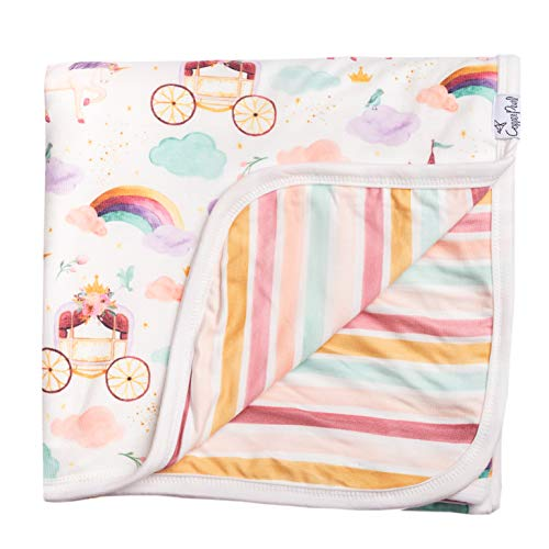 """Large Premium Knit Baby 3 Layer Stretchy Quilt Blanket""""Enchanted"""" by Copper Pearl"""