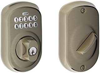 Schlage BE365 PLY 620 Plymouth Keypad Deadbolt, Antique Pewter
