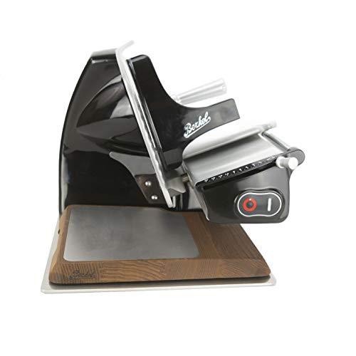 Palatina Werkstatt Bundle ® Berkel Home Line 200, Aufschnittmaschine, schwarz, neues Modell : 2020 (Home Line 200 + Alu-Schneidebrett+Poliertuch)