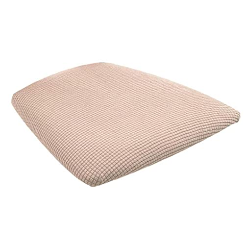 NIDONE Dining Chair Seat Cover Stretch Chair Cushion Protector Removable Washable Slipcover Khaki