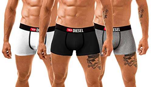 Diesel Herren 3 Pack Boxershorts Boxer Trunk Unterwäsche Panties Multipack Unterhosen (Medium, TRAVEL-KIT)